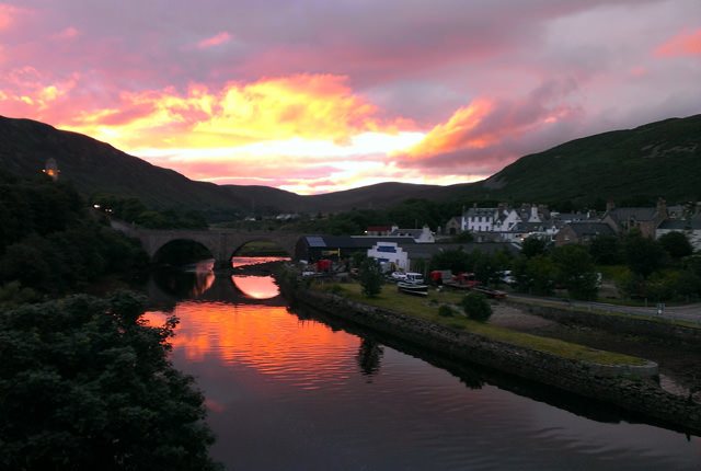 The Village of Helmsdale home to Helmsdale Hostel