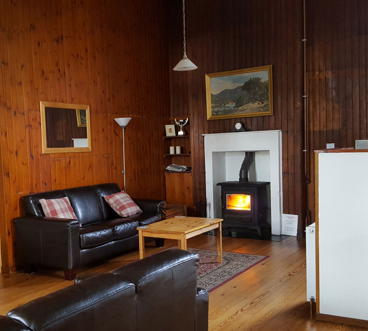 log burner at helmsdale hostel
