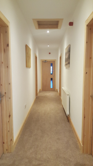 Access to rooms from hallway - Modern holiday accommodation in Helmsdale, Scotland