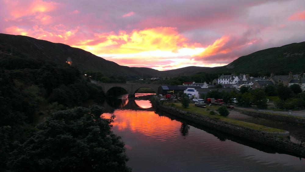 Helmsdale village Thomas Telford Bridge - Sunset - Photography - Holiday Accommodation in Scotland