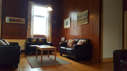 comfortable lounge area at Helmsdale Hostel